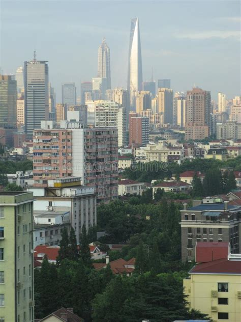 Chinese Cityscape With Different Types Of Buildings Stock