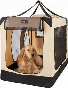 Elitefield, 3-door, Collapsible, Soft-sided, Dog, Crate, Beige, 42-in
