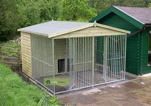 Dog kennel run kennel for Dog run outdoor kennel house