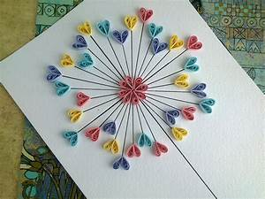 Quilling Paper Tutorial - DIY Paper Quilling Love Card