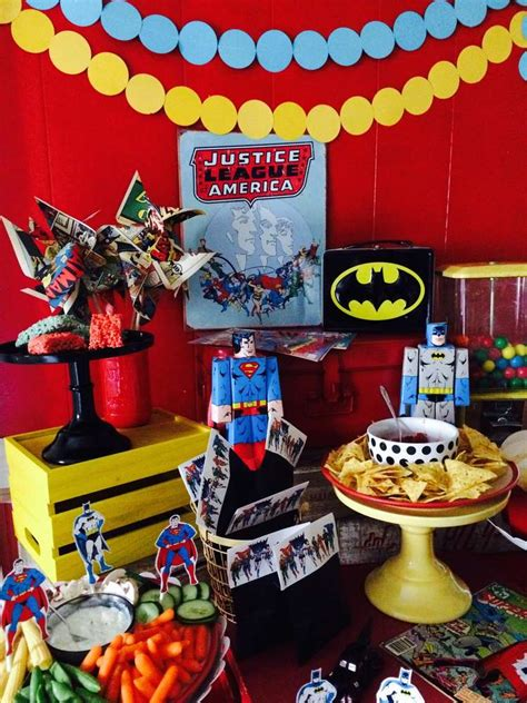 Justice Leaguesuperhero Birthday Party Ideas  Photo 2 Of