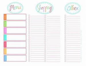 118 best meal planning grocery list printables images on for Lunch roster template
