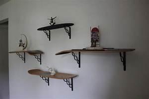 Etagere Murale Pas Cher : qui osera recycler son skateboard en tag re murale ~ Teatrodelosmanantiales.com Idées de Décoration