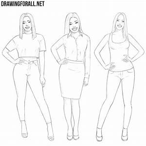 How To Draw A Girl Body And Face