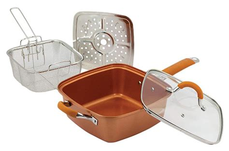 piece copper square pan cookware set promo lbms