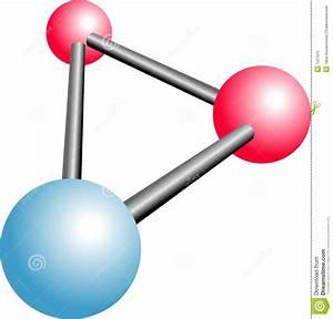 Molecule H2o Cartoon Stock Vector  Illustration Of Symbol
