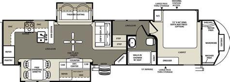 rear kitchen rv floor plans rear kitchen fifth wheel floor plans wow 7642