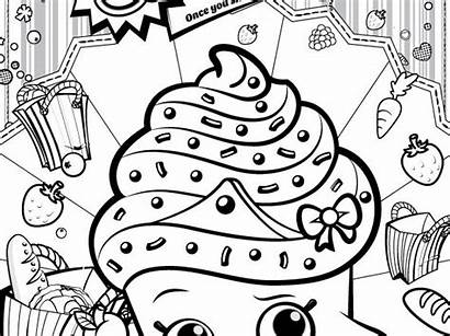 Shopkins Coloring Pages Cupcake Queen Sheets Party