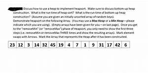 Solved, Discuss, How, To, Use, A, Heap, To, Implement, Heapsort, M