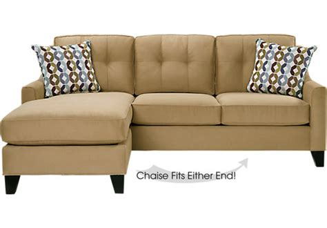 rooms to go chaise place peat 2pc sectional living