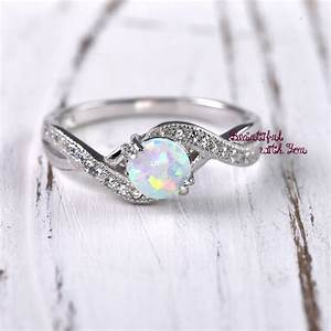wedding ring women opal wedding ring lab created white opal With opal wedding rings for women