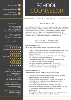 school counselor cover letter sample tips resume genius