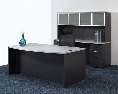 gray office desk napa grey executive office set desk credenza hutch