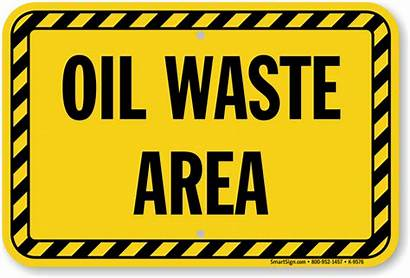 Waste Oil Signs Sign Mysafetysign Area Warning