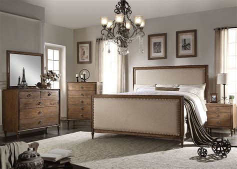 inverness parker reclaimed oak upholstered panel bedroom