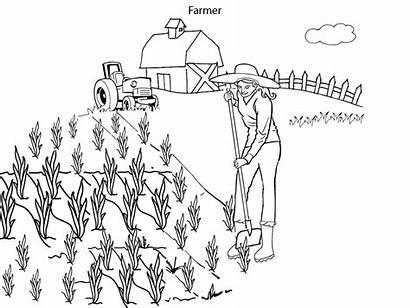 Farmer Pages Coloring Colouring Farming Dell Simulator