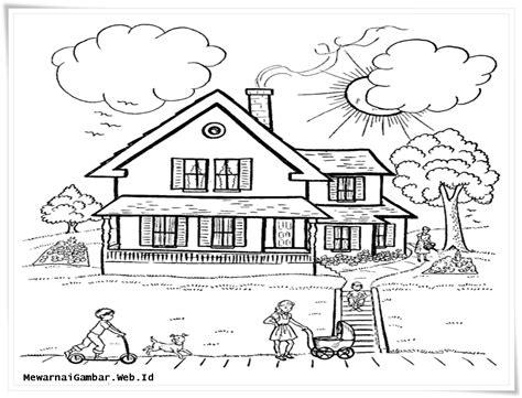 gambar lingkungan rumah hitam putih