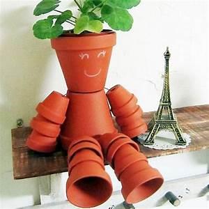 Pot De Fleur En Terre Cuite : bonhomme en pot de fleur ~ Premium-room.com Idées de Décoration