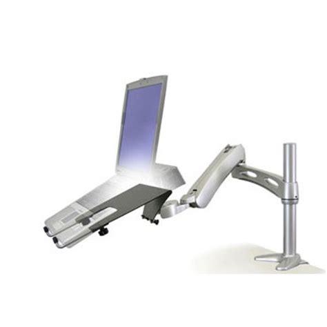 bureau pour pc portable ergotron lx bras de bureau pour pc portable coloris
