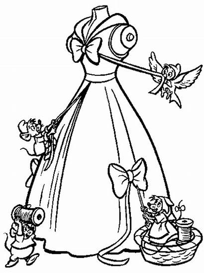 Gambar Cinderella Mewarnai Disney Baju Putri Gaun