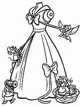 Cinderella Coloring Pages Printable Disney Princess Colouring Dress Drawing Sheets Drawings Wedding Filminspector Mice Colorng Colorear Para Cute Cinderela Dresses sketch template