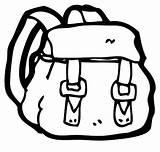 Backpack Coloring Backpacks Tocolor sketch template