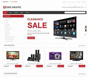 home shoppe online shopping cart mobile website template With online store template html5