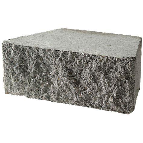 Brighton Retaining Wall Blocks by 6 In X 16 In Flat Gray Concrete Garden Wall Block