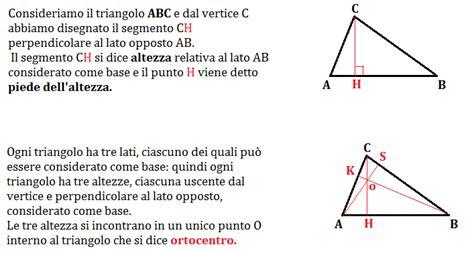 un si鑒e altezze di un triangolo e ortocentro