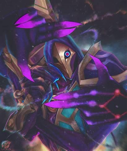 Jhin Cosmic Dark Artstation Lol League Legends