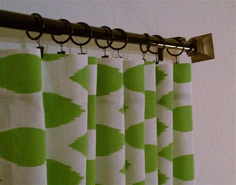 green and white ikat curtains by sew panache