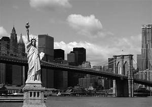 Bild New York Schwarz Weiß : fototapete tapete brooklyn bridge freiheitsstatue new york schwarz wei foto 360 x 254 cm ~ Bigdaddyawards.com Haus und Dekorationen