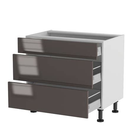 meuble cuisine tiroir meuble cuisine bas 90cm 1 tiroir 2 casseroliers achat