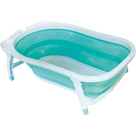 baignoire bébé avec siège intégré baignoire bébé pliable bleu de babysun sur allobébé