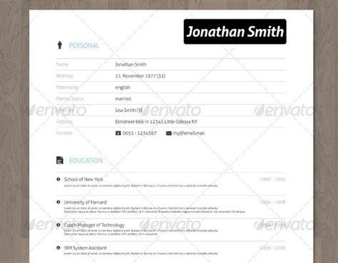 Best Font For A Creative Resume by 28 Minimal Creative Resume Templates Psd Word Ai