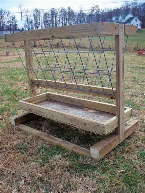 Livestock Feeder by How To Build A Hay Feeder For Smaller Livestock Barn
