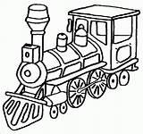 Coloring Train Blank Printable sketch template