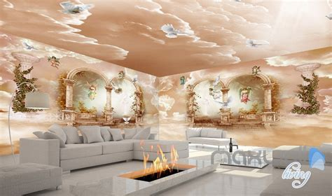 3d Wallpapers For Walls by 3d Classic Arch Polar Heaven Entire Living Room