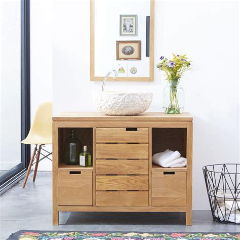 meuble sous vasque en chne massif style classique tikamoon