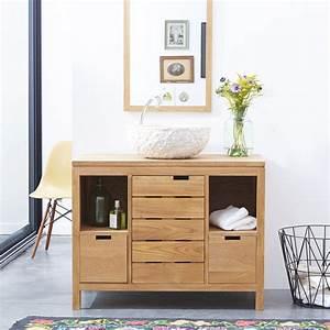 Console Salle De Bain : meuble sous vasque en chne massif style classique tikamoon ~ Preciouscoupons.com Idées de Décoration
