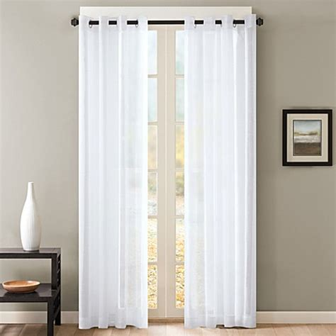 sheer curtains bed bath and beyond skyline sheer grommet window curtain panels bed bath