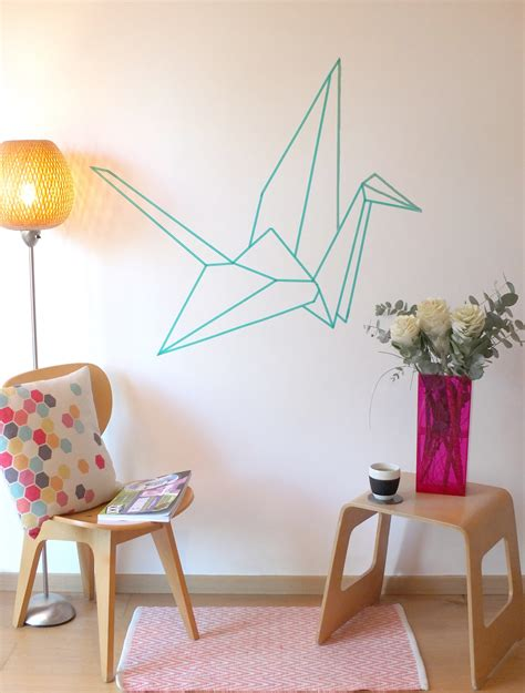 deco mural chambre origami be frenchie diy a wall decor in masking