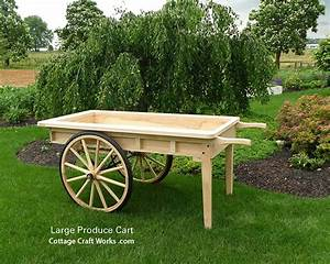 Old Fashion Reproduction Large Wooden Produce Cart