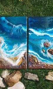 Pin by karlien coetzee on diy shell art | Resin art ...