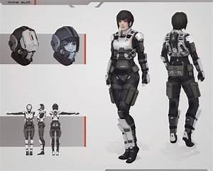 Futuristic Girl, Future Warrior, Military, Sci-Fi Girl ...