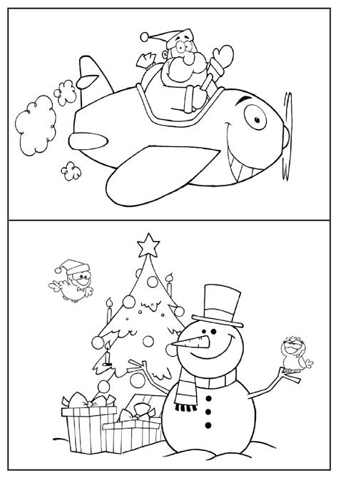 Free coloring pages of christmas borders