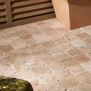 pave beton caris saumon ton pierre l10 cm x l10 cm x With dalle pour allee de jardin 10 pave de jardin en beton rouge forme en i l 165 cm l