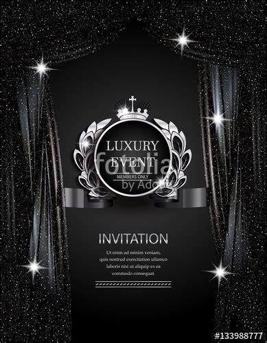 luxury event elegant silver  black background