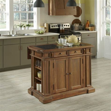 home styles americana vintage kitchen island  storage