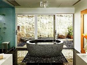 salle de bain zen 25 idees de decoration With salle de bain design avec cailloux de décoration jardin